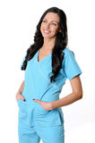 Nurse in scrubs Royalty Free Stock Image