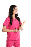 Nurse in scrubs Stock Images