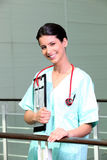 Nurse in scrubs Royalty Free Stock Photos