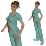 Nurse in scrubs Royalty Free Stock Photos