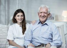 Nurse and senior man Stock Photos