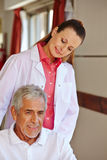 Nurse with senior patient Stock Image