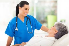 Nurse senior patient Royalty Free Stock Photos