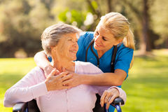 Nurse senior patient Royalty Free Stock Image