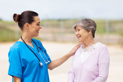 Nurse senior woman Royalty Free Stock Images