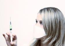 Nurse with seringe. Medical nurse Stock Image