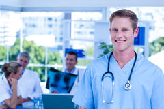 Nurse smiling at the camera Royalty Free Stock Photos