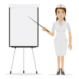 Nurse specifies on flipchart Royalty Free Stock Images