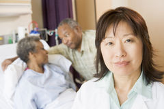 Nurse Standing In Hospital Room Royalty Free Stock Photography