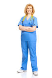 Nurse with stethoscope Stock Images