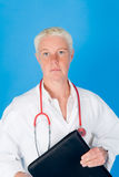Nurse with stethoscope Stock Photos