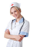 Nurse with stethoscope Stock Photos