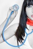 Nurse with stethoscope Royalty Free Stock Photo