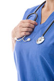 Nurse With Stethoscope Royalty Free Stock Photos