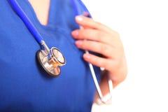 Nurse Stethoscope Close Up Stock Photo