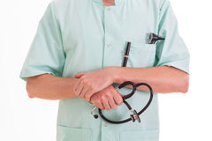 Nurse with stethoscope Stock Photography