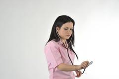 Nurse with stethoscope Stock Image