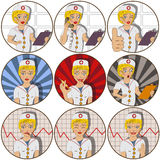 Nurse stickers Stock Photos