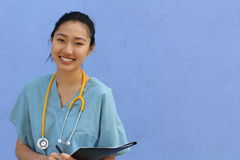 Nurse.Student, Education. Glasses, Asian. Health Care. Copy space. Nurse Student Education Glasses Asian Health Care Copy space Stock Photography