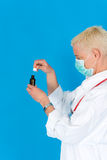 Nurse with surgical mask Stock Image