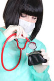Nurse with surgical mask Royalty Free Stock Images