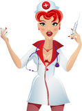 The nurse with a syringe Stock Photography