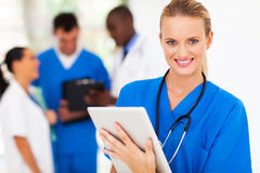 Nurse tablet computer Royalty Free Stock Photography