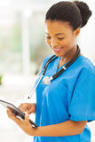 Nurse tablet pc Stock Images