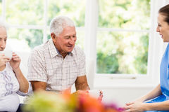 Nurse taking care of sick elderly patients Royalty Free Stock Photography