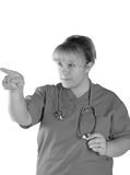 Nurse taking charge Royalty Free Stock Photography