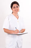 Nurse taking notes Royalty Free Stock Images
