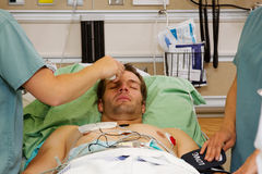 Nurse taking temperature Stock Photos