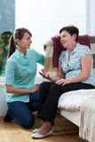 Nurse talking with patient Royalty Free Stock Photography