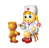 Nurse and Teddy Bear Stock Photos
