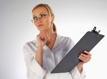 Nurse thinking Stock Photography