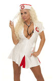 Nurse thinking Stock Images
