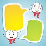 Nurse tooth with blank speech dental concept illustration Royalty Free Stock Photo