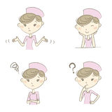 Nurse with various expression and poses Stock Photography