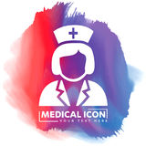 Nurse Vector icon. simple outline Black Icon on white background,  Illustration isolated for graphic and web design, International Stock Images