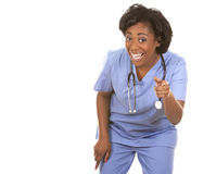 Nurse very excited Stock Image