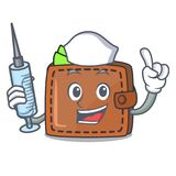 Nurse wallet character cartoon style. Vector illustration Royalty Free Stock Image