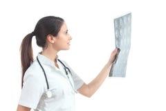 Nurse watching a mri Stock Photography