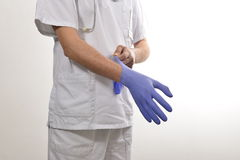 Nurse wearing gloves Royalty Free Stock Photography