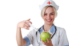 Nurse With Syringe Stock Photography