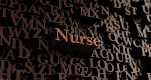 Nurse - Wooden 3D rendered letters/message Royalty Free Stock Photo