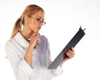 Nurse working with charts Royalty Free Stock Photography