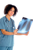 Nurse With X-Ray Stock Photography
