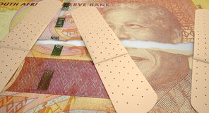 Nursed Torn South African Rand Stock Image