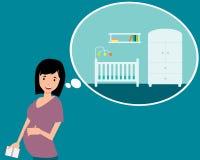 nursery illustrazione di stock