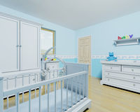 Nursery for a baby boy Stock Image